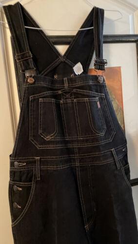 Vtg '90s Jordache Womens Black Jean Denim Overalls
