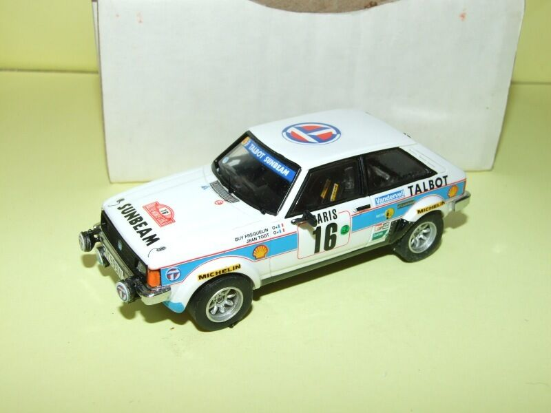 Talbot lotus sunbeam rally monte carlo 1981 frequelin mini racing 1 43 kit