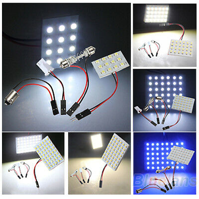 12/24/36/48 LED 3528 SMD Car Light Panel Board With T10 Festoon BA9S Adapter BA2