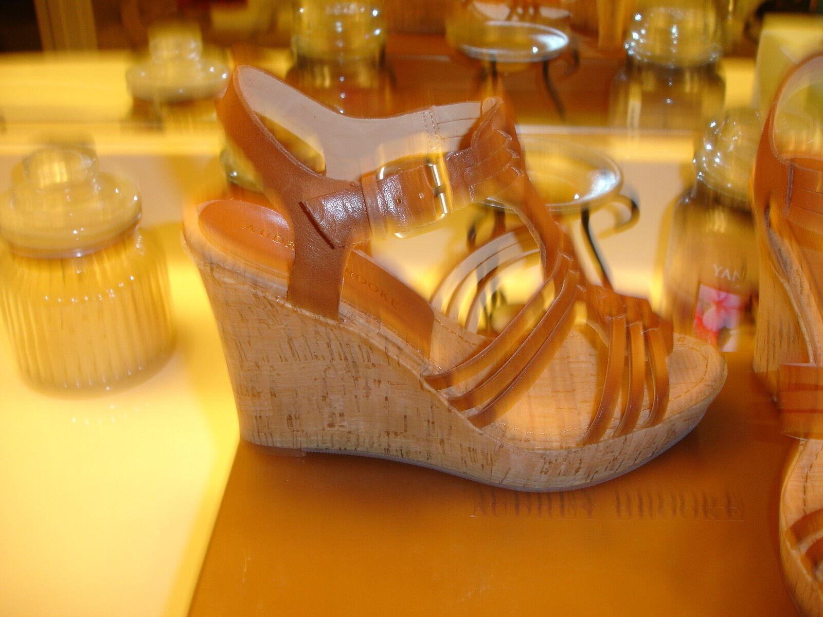Audrey Brooke Carina Carina Carina braun leather Espadrille Heel 6.5 7 6  109 Sexy Styllish b90ee1