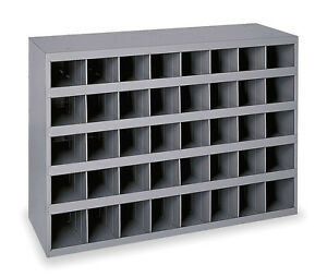 Image Is Loading Metal 40 Compartment Slot Hole Storage Bin Cabinet