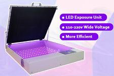 Qomolangma 20 X 24 Vacuum Led Uv Exposure Unit 80w Precise Screen Printing
