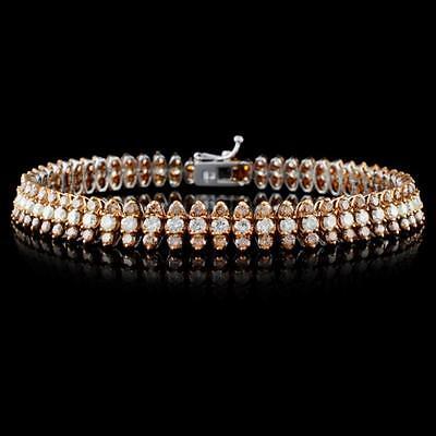 7. 18K White Gold 6.66ctw Fancy Color Diamond Bracele Lot 7