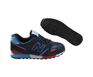 New-Balance-u446-not-Navy-Red-Marine-Rouge-Chaussures-Baskets-Bleu-Tailles-Choix
