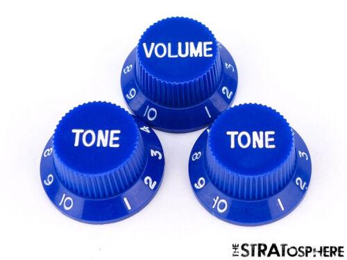 *NEW CONTROL KNOBS for Fender Standard Stratocaster Strat Guitar Parts Blue