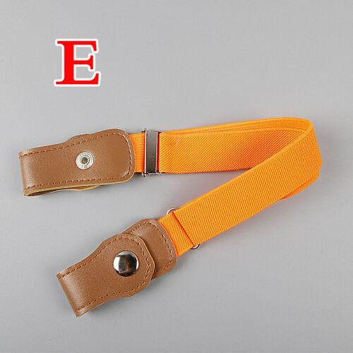 Children Boy Girl Buckle Free Adjustable Elastic Waist Belt Waistband Striking