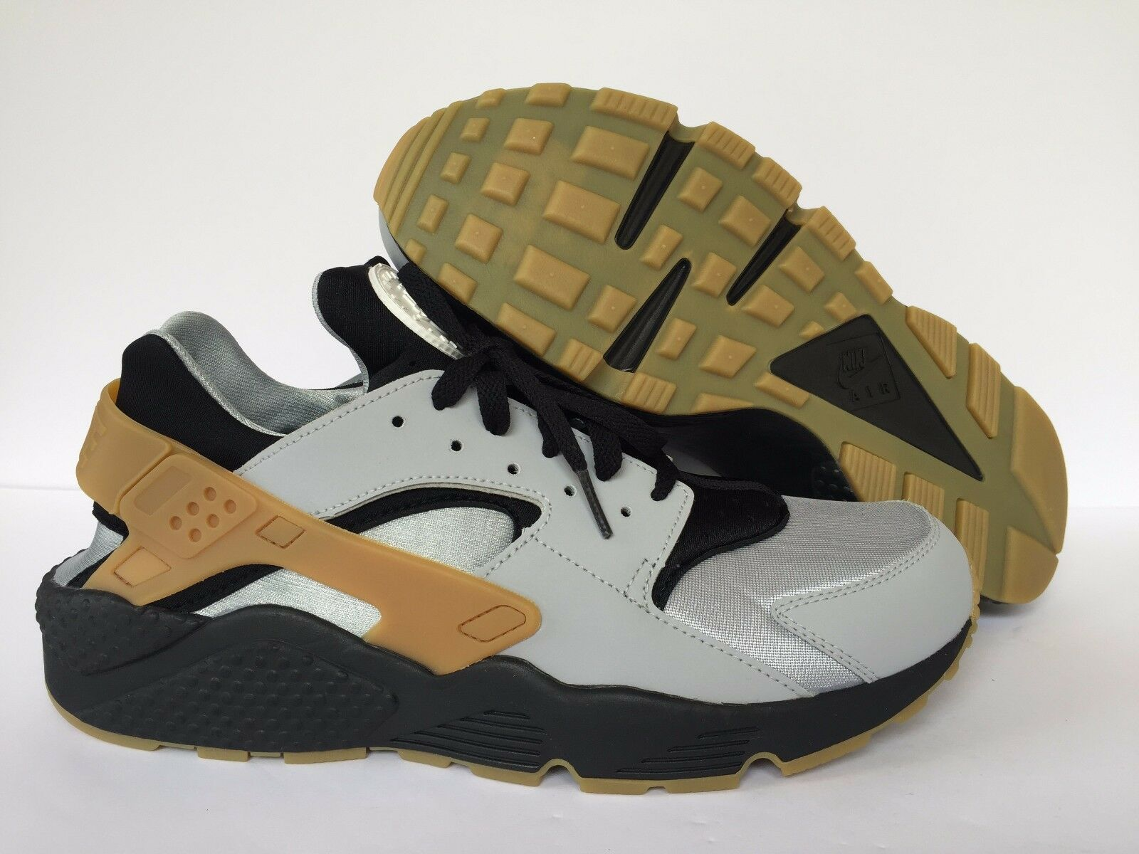 NIKE MEN AIR HUARACHE Nike iD Gray/Black New 777330-972 SZ US MEN 11.5
