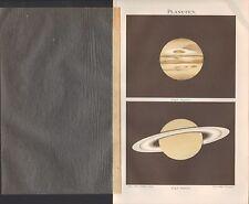 Chromo-Lithografie 1897: Planetensystem. Planeten-Gruppe. Jupiter Saturn