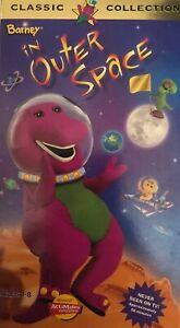 Barney-In-Outer-Space-VHS-Video-Tape-1997-Classic-Collection-Purple-Dinosaur