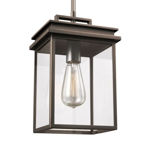 Feiss Chappman 1 Light Outdoor Pendant Lantern OL13609ANBZ Antique Bronze
