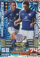 408 Drinkwater / Matty James Leicester City.fc Duo Card Match Attax 2015 Topps
