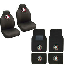 New Florida State Seminoles Car Truck Seat Covers & Front Back Carpet Floor Mats