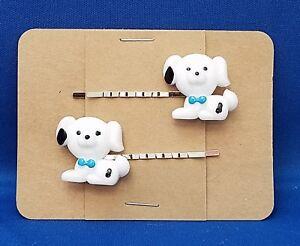 PUPPY-Dog-Animal-Handmade-Bobby-PIn-Hair-clips-Set-of-2