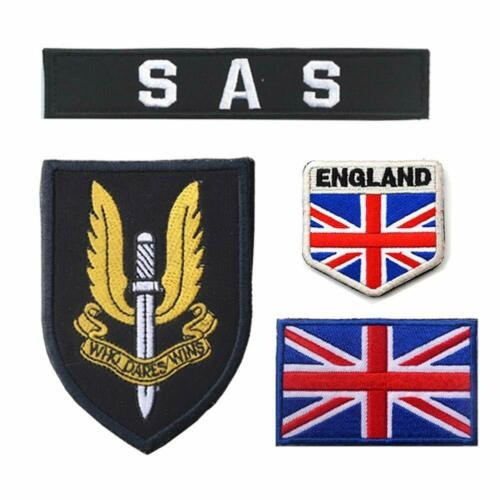SAS UK National Flag Embroidered Patches SWAT Tactical Military Hook/&Loop Badge
