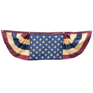 1-5m-Vintage-Bandiera-Americana-4th-di-Luglio-Portico-Patio-Recinzione-Bunting