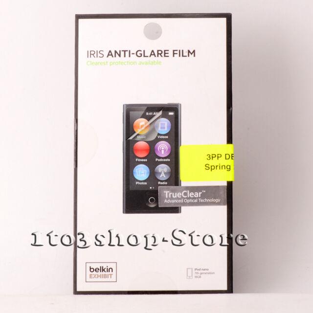 Belkin IRIS TrueClear Anti-Glare Clear Screen Protector for iPod Nano 7th Gen 7G