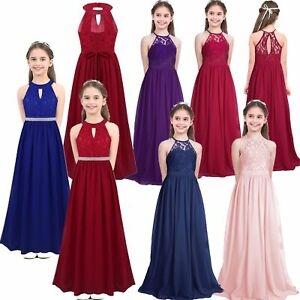 Flower Girls Sequins Dress Wedding Pageant Communion Formal Party Long Ball Gown