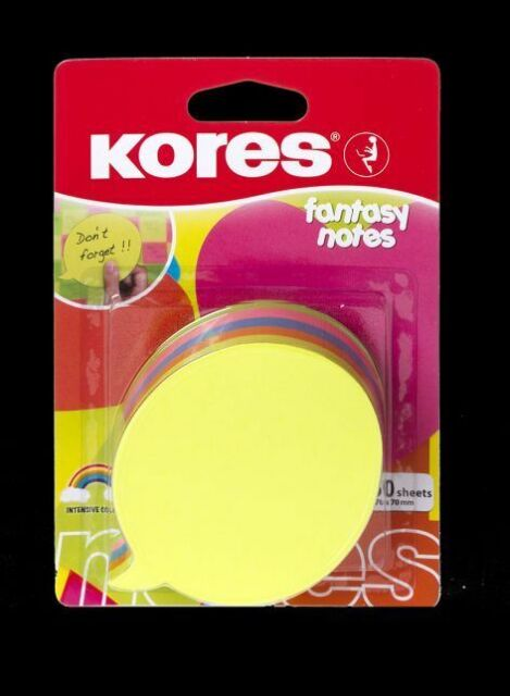 Haftnotizen 75 x 75 mm 5 x Kores Notes 100 Blatt gelb
