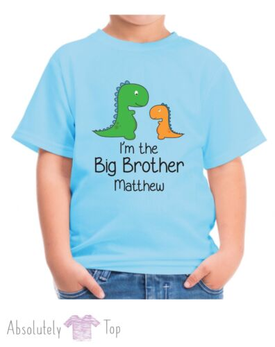 PERSONALISED DINOSAUR IM THE BIG BROTHER BOYS T SHIRT CHILDRENS TSHIRT KIDS TOP
