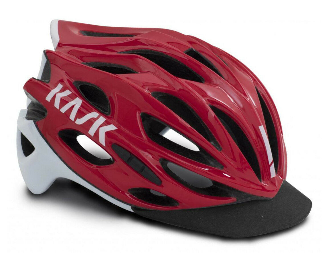KASK MOJITO X PEAK Road Cycling Helmet - Red [S 48-56. M 52-58. L 59-62cm]