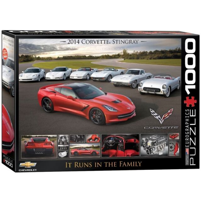 EG60000736 - eurographics Puzzle 1000 Pièce Corvette Fonctionne en The Family