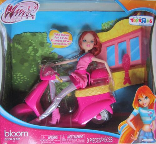 NEW New Rare WINX Club Nickelodeon BLOOM SCOOTER AND BLOOM DOLL TOYS R US
