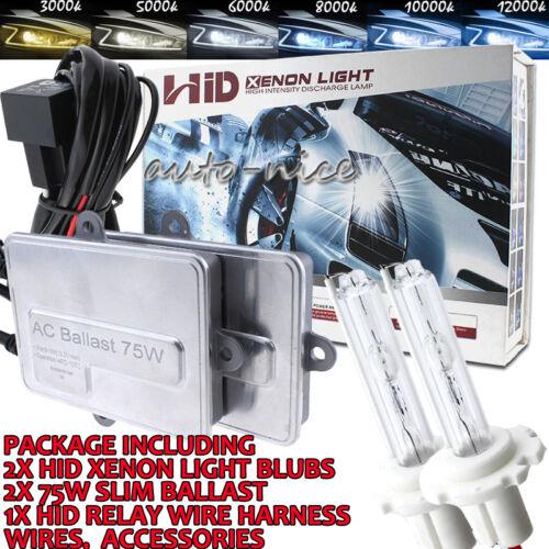 AC 75W Xenon Headlight HID Conversion Kit H7 H11 9006 HB4 9004 HB1 9007 H13 9008