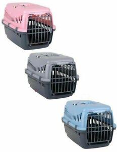 Pet-Dog-Puppy-Cat-Carriers-Basket-Bag-Cage-Portable-Travel-Kennel-Box-Vet-W-Door