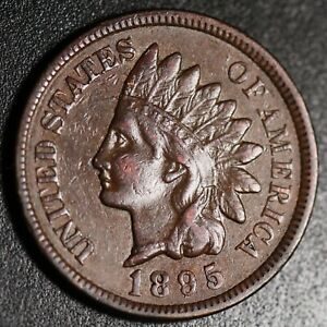 1895-INDIAN-HEAD-CENT-XF-EF-With-REPUNCHED-DATE-SNOW-3-RPD