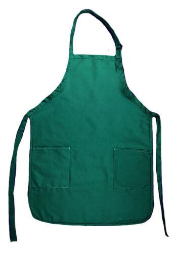 1 Dozen Full Adult Size Bib Aprons With 2 Waist Pockets Kitchen Wholesale Bulk