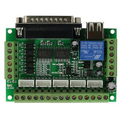 5 Axis CNC Breakout Board Interface for MACH3 Stepper Motor Controller Driver