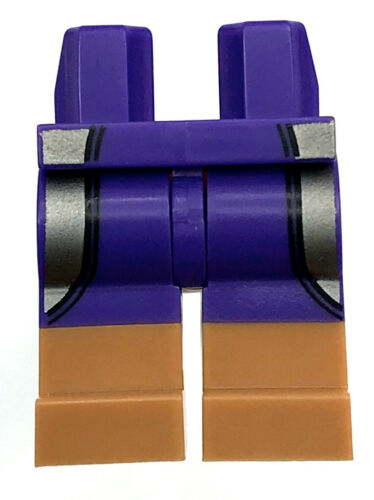 LEGO NEW DARK PURPLE MINIFIGURE HIPS WITH DARK FLESH BOOTS PANTS PART