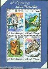 SAO TOME 2014 50th ANNIVERSARY OF THE RED LIST OF ENDANGERED SPECIES SHT MINT NH