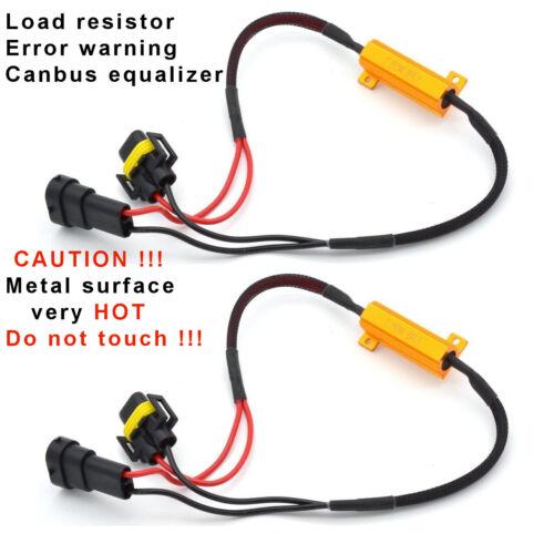 2X H10 LED Headlight Canbus Error Free Resistor Canceler Decoder