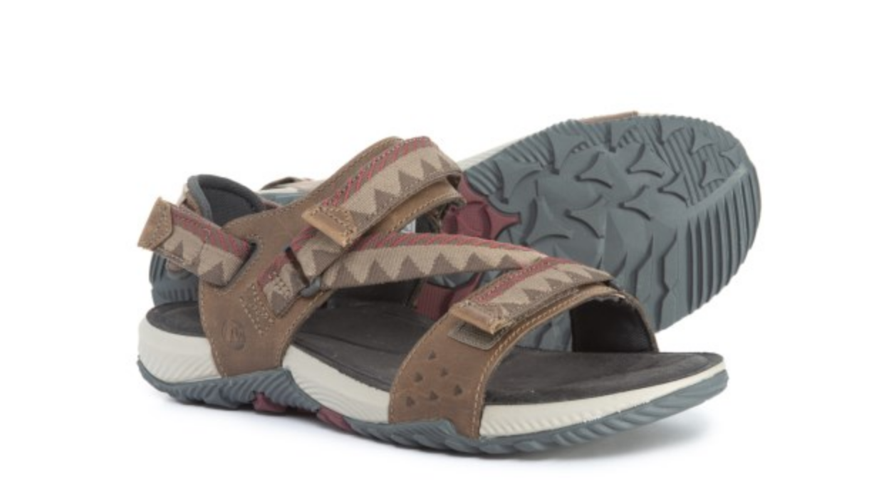 NEW MERRELL TERRANT CONgreen SANDALS BRINDLE MENS 14 J93917 SPORT SANDALS