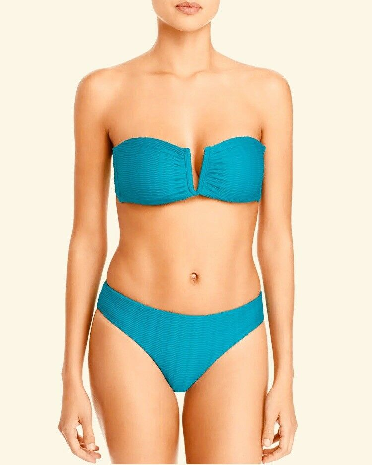 Red Carter The Wave Oasis bluee Bandeau Textured Bikini Swimsuit SET S M NWT  154