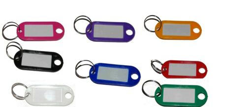 100  Schlüsselanhänger zum Beschriften Bunt Gemischt Kunststoff 8 Farben