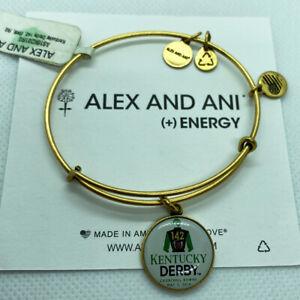 (3) Alex And Ani Kentucky Derby 142 Bangle Charm Bracelets Rafaelian Gold Finish