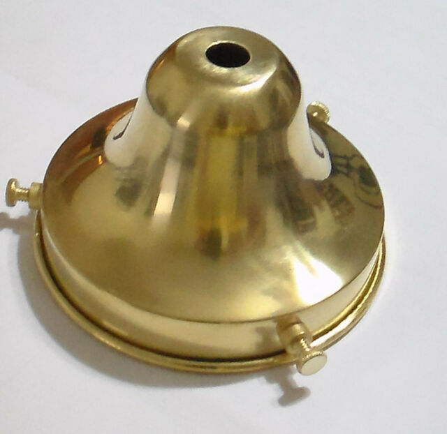 """NEW 3 1//4/"""" Fitter Unfinished Brass Fixture OIL Lamp Shade Holder Bell #SHH62U"""