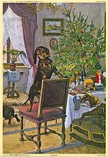 Baumfrevel. Biedermeier calendario de Adviento tras handkoloriertem madera picadura de 1872