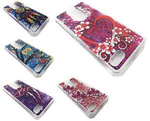 Details about Tempered Glass + Glitter Motion Cover Case For LG Rebel 4  L212VL LML211BL