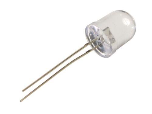 QTY: 6 PEZZI FLASH LED 10mm alta luminosità colore ROSSO LAMPEGGIANTI