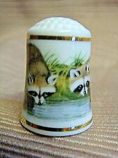 1981 WWF World Wildlife Fund Bone China RACCOON THIMBLE