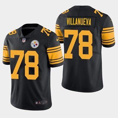 new products 92d06 aba92 ALEJANDRO VILLANUEVA Pittsburgh Steelers #78 jersey RUSH ...