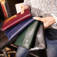 New Women Genuine Leather Wallet Lady Long Card Holder Clutch Purse Handbag Bag
