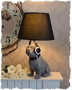 Lampara-de-mesa-lampara-Bulldog-lampara-figurativa-Pug-de-perro-pantalla-de-tela