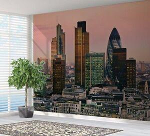 Londres-ville-Skyline-at-Dusk-Papier-peint-photo-decoration-murale-15350684
