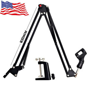 Hot Mic Microphone Suspension Boom Scissor Arm Stand Holder for Studio Broadcast