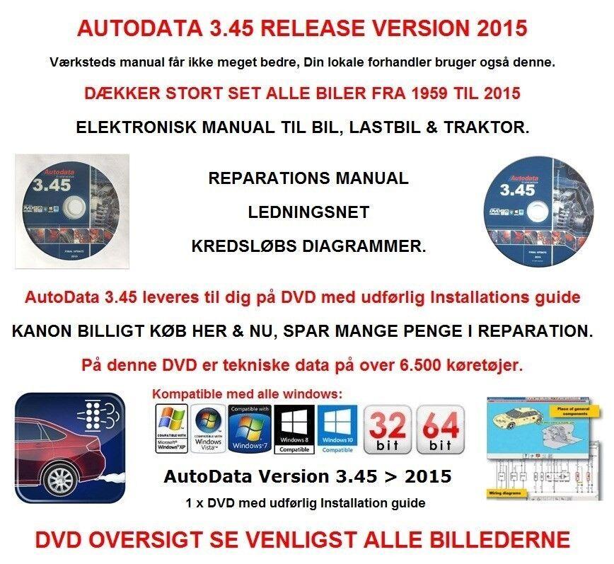 AUTODATA 3.45, RELEASE VERSION 2015