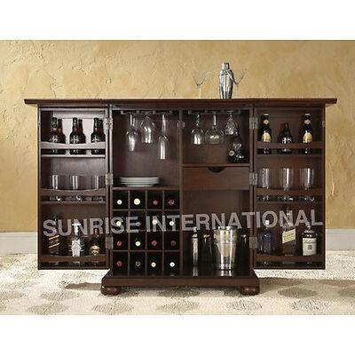 Contemporary Handmade Wooden folding Wine Bar  Cabinet rack !!